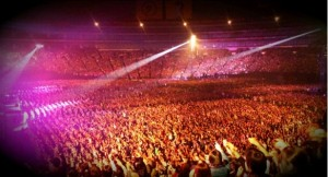 The crowd at the Yahoo! Dome in Fukuoka