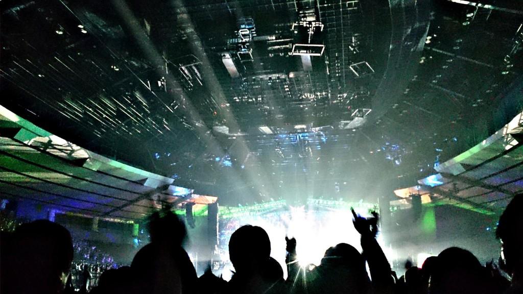 The crowd at the Hiroshima Green Arena
