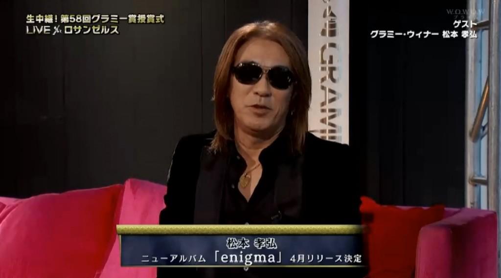 Tak Matsumoto Grammy WOWOW Appearance